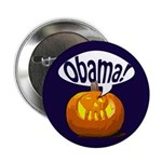 Halloween Pumpkin for Obama Button
