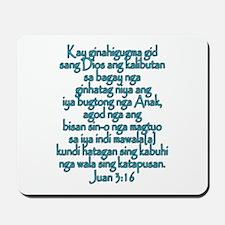 John 3:16 Hiligaynon Mousepad