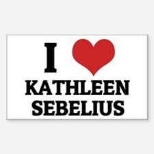 I Love Kathleen Sebelius Rectangle Decal