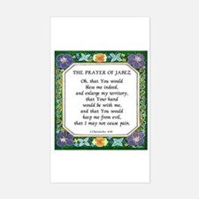 2 Prayers: Prayer of Jabez a Rectangle Decal
