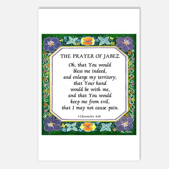 2 Prayers: Prayer of Jabez a Postcards (Package of