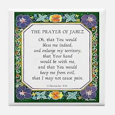 2 Prayers: Prayer of Jabez a Tile Coaster