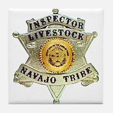 Navajo Livestock Police Tile Coaster