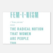 Women's march feminis Postcards (Package of 8)