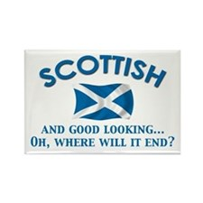 Good Lkg Scottish 2 Rectangle Magnet
