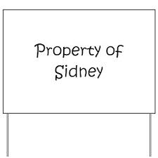 Unique Sidney Yard Sign