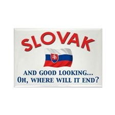 Good Lkg Slovak 2 Rectangle Magnet