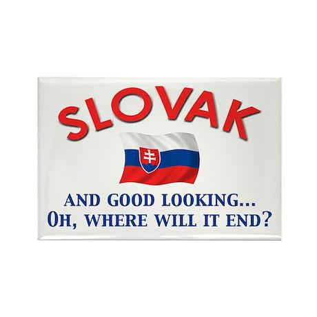 Good Lkg Slovak 2 Rectangle Magnet