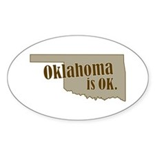 """Oklahoma"" Oval Decal"
