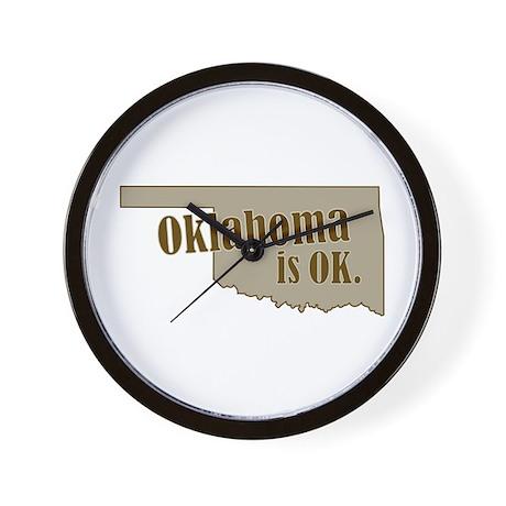 """""""Oklahoma"""" Wall Clock"""