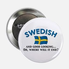 "Good Lkg Swedish 2 2.25"" Button"
