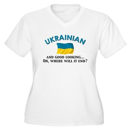 Good Lkg Ukrainian 2 Women's Plus Size V-Neck T-Sh