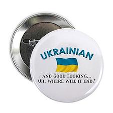 "Good Lkg Ukrainian 2 2.25"" Button"