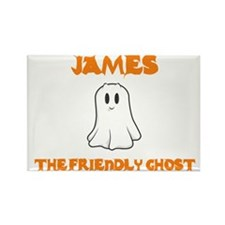 James The Friendly Ghost Rectangle Magnet