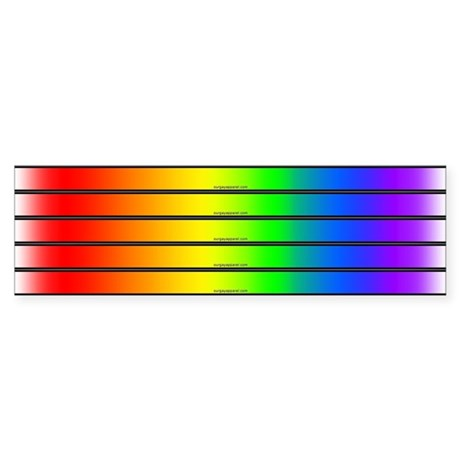 5-in-1 Gay Pride Rainbow Bumper Sticker