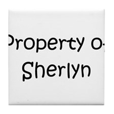 Funny Sherlyn Tile Coaster