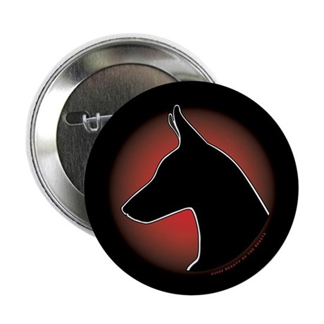 "Red Sun Doberman 2.25"" Button (100 pack)"