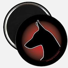 "Red Sun Doberman 2.25"" Magnet (100 pack)"