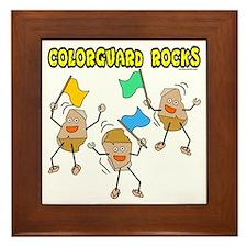 Colorguard Rocks Framed Tile