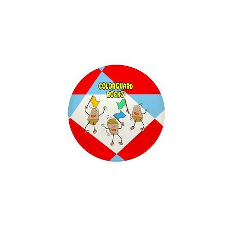 Colorguard Rocks Mini Button (10 pack)