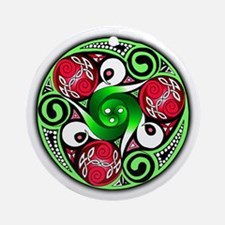 Christmas Celtic Spirals Ornament (Round)