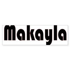 Makayla Bumper Car Sticker