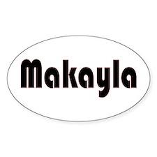 Makayla Oval Decal