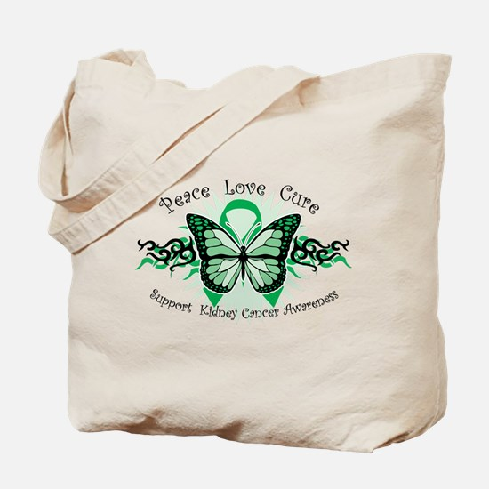 Kidney Cancer Tribal Butterfly Tote Bag