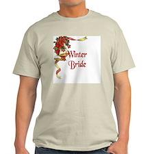 Winter Wedding - Winter Bride Ash Grey T-Shirt