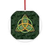 Trinity knot Round Ornaments