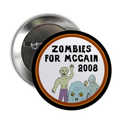 Zombies for McCain 2008 Halloween button