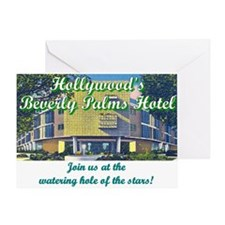 Hollywood Beverly Palms Hotel Greeting Card