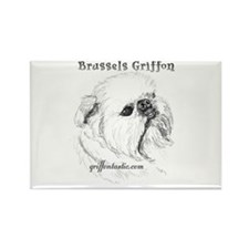 Rough Brussels Griffon Rectangle Magnet