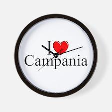 """""""I Love (Heart) Campania"""" Wall Clock"""