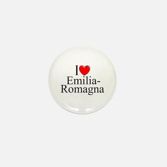 """I Love (Heart) Emilia-Romagna"" Mini Button"