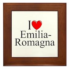 """""""I Love (Heart) Emilia-Romagna"""" Framed Tile"""