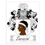 Saracini Family Crest Small Poster