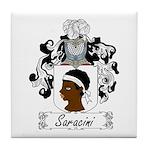 Saracini Family Crest Tile Coaster