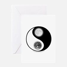 Yin Yang Earth Moon Greeting Card