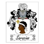 Saracino Family Crest Small Poster