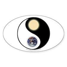 Yin Yang Earth Sun Oval Decal