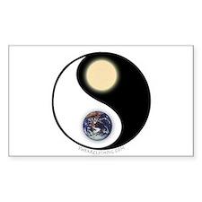 Yin Yang Earth Sun Rectangle Decal