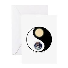 Yin Yang Earth Sun Greeting Card