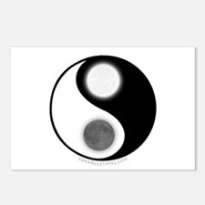 Yin Yang Moon Sun Postcards (Package of 8)