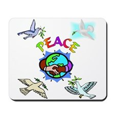 World Peace With Doves Mousepad