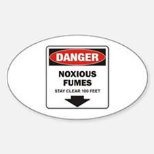 Danger Fumes Oval Decal