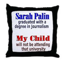 Funny I hate sarah palin Throw Pillow
