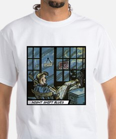 'Night Shift Blues' T-Shirt With Backprint