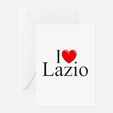 """I Love (Heart) Lazio"" Greeting Cards (Pk of 10)"