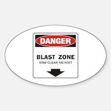Danger Blast Oval Decal